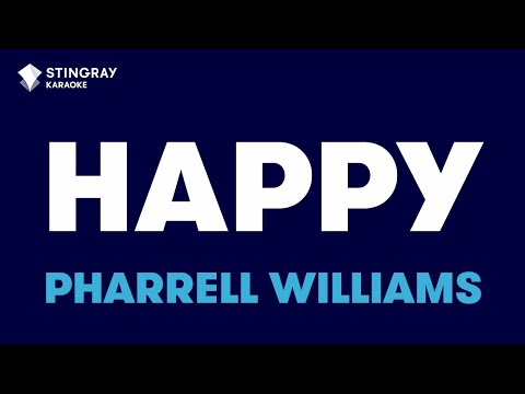 """Happy in the Style of """"Pharrell Williams"""" with lyrics (no lead vocal)"""