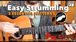beginner guitar lesson 3 easy strumming patterns you must know