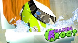 BAT FROG FLUSHES CAR WHILE DRIVING IT!  - Amazing Frog Gameplay - Amazing Frog Update