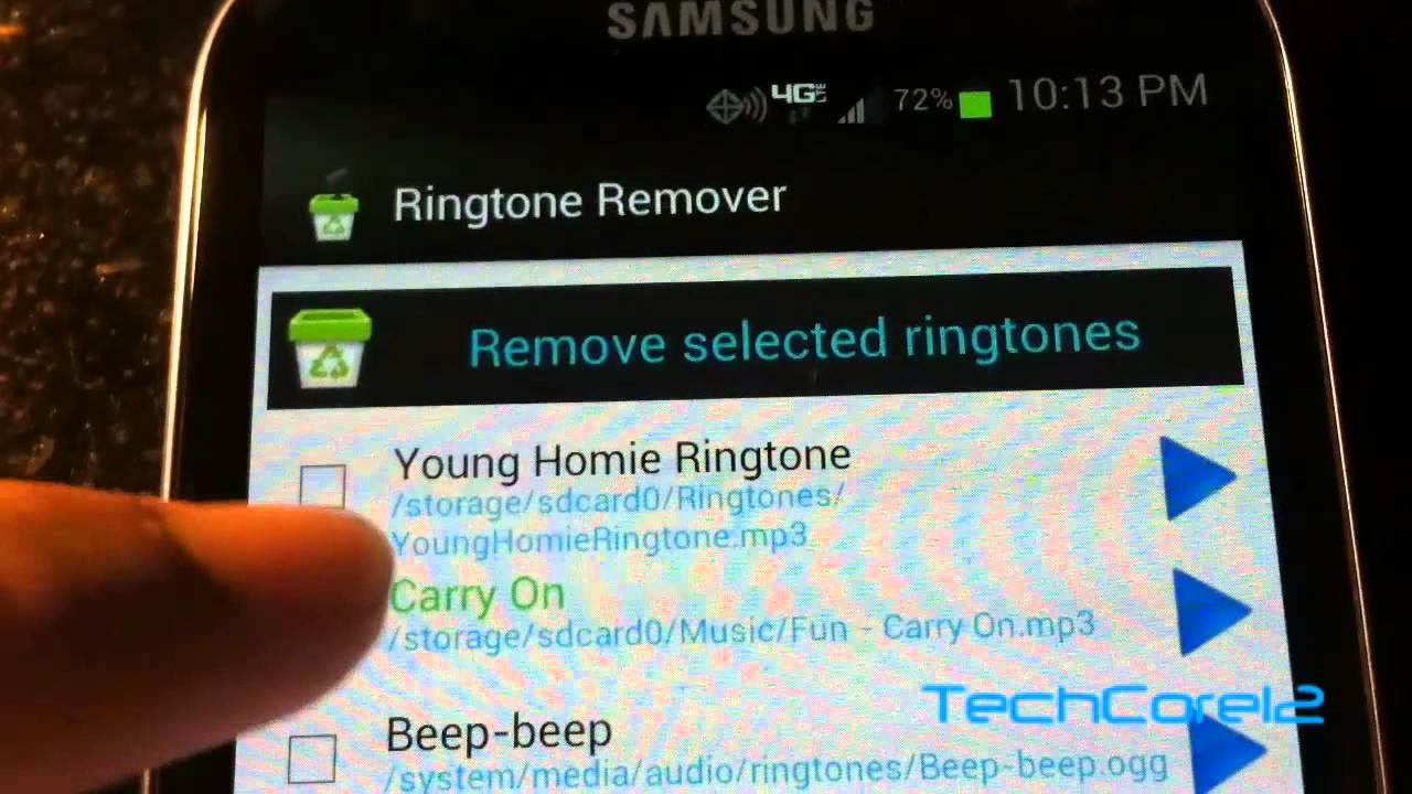 How to delete a ringtone your android phone