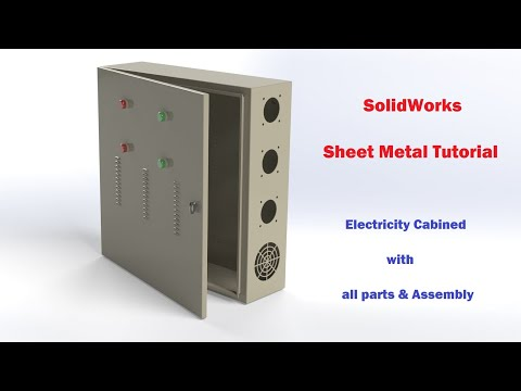 SolidWorks Tutorial | Sheet metal design (Electric Panel all assembly)