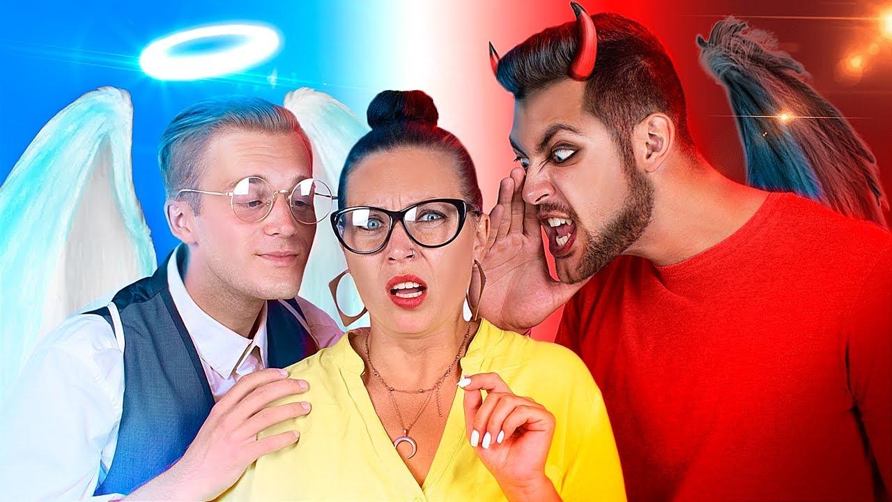 Ангел и демон в колледже / Моим учителем управляют добрый и злой ангел