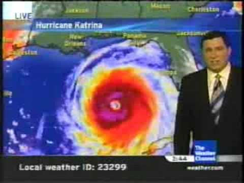 *REUPLOADED TWC Hurricane Katrina coverage 8/28/05: Clip 2