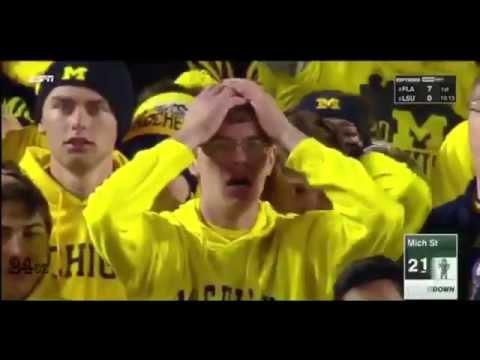 Michigan State Football Miracle MSU vs U of M - YouTube