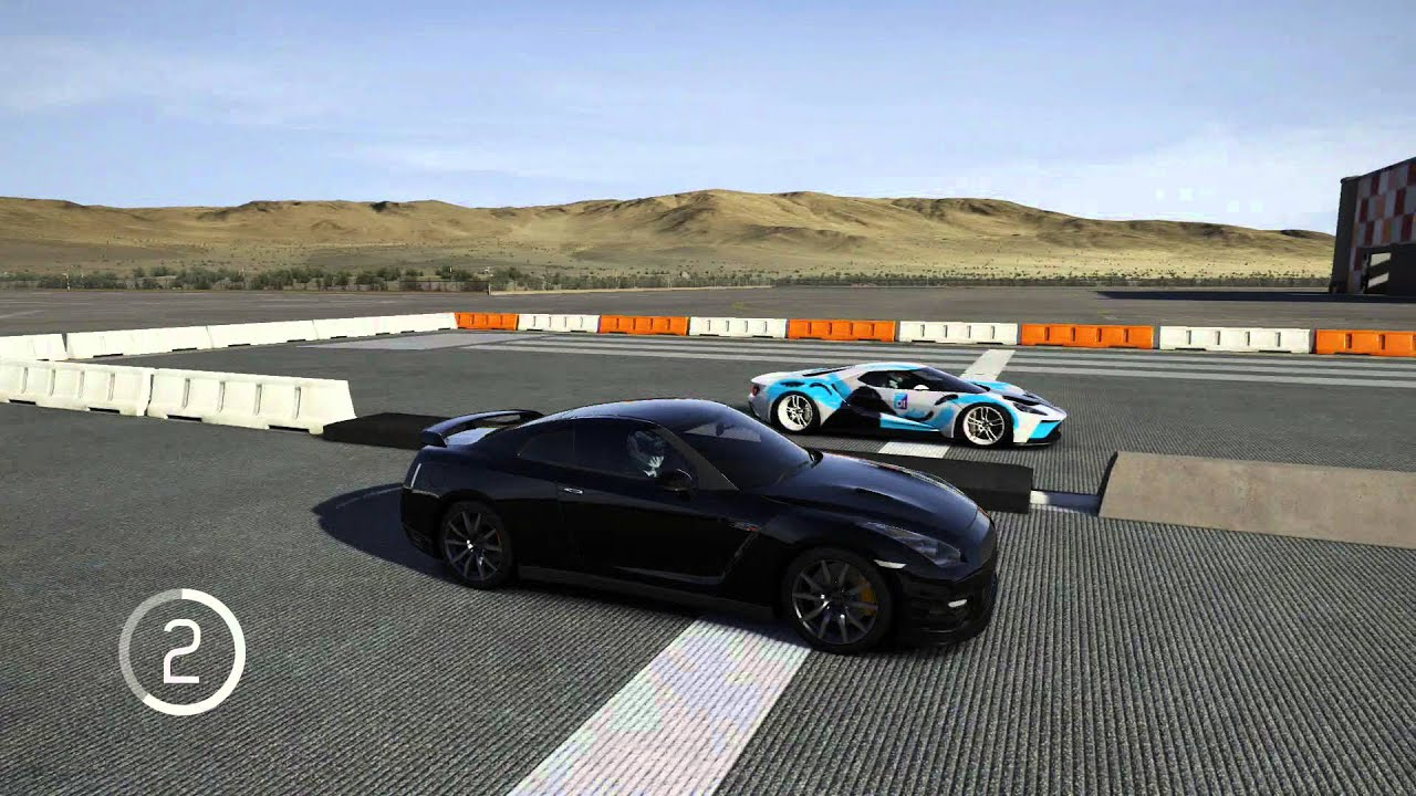 Nissan Gt R Vs  Ford Gt   Mile Run And Full Mile Forza Motorsport  Youtube