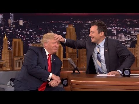 watch-jimmy-fallon-dare-to-mess-up-donald-trump's-hair