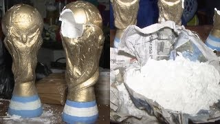 Argentine police seize fake World Cup trophies loaded with cocaine