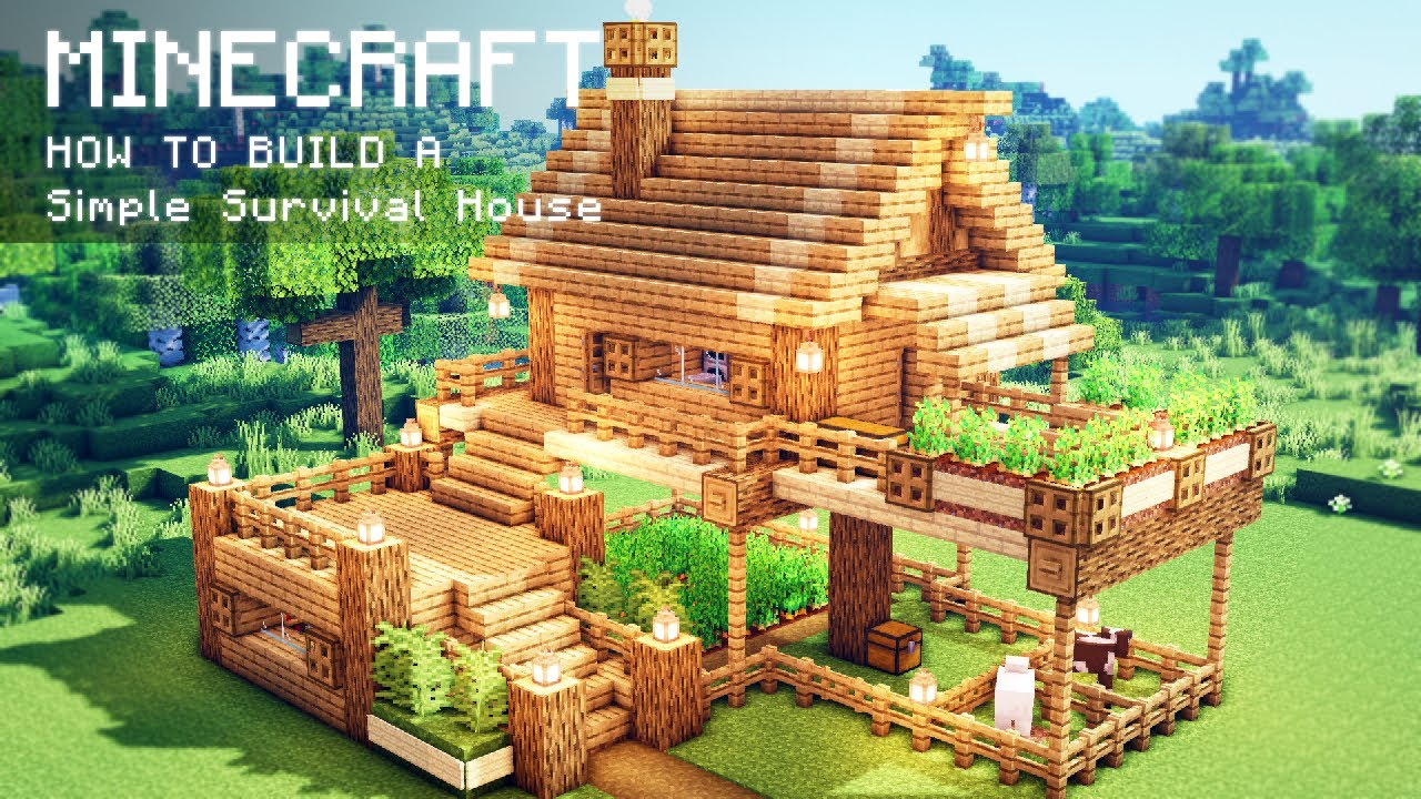 Minecraft How To Build A Simple Survival House Youtube