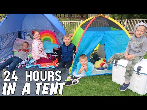 24 Hours in a Tent Challenge!