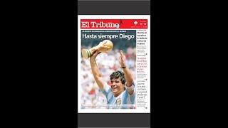 Los distintos diarios del mundo recordaron a Diego Maradona