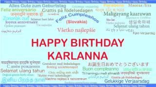 Karlanna   Languages Idiomas - Happy Birthday