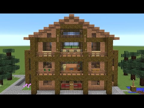 Minecraft How To Build A Huge Jungle Wood House Youtube