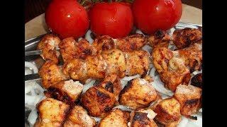 Сочный шашлык из курицы в духовке.