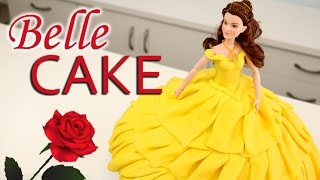 BEAUTY and the BEAST TWIRLING Belle Dress CAKE!