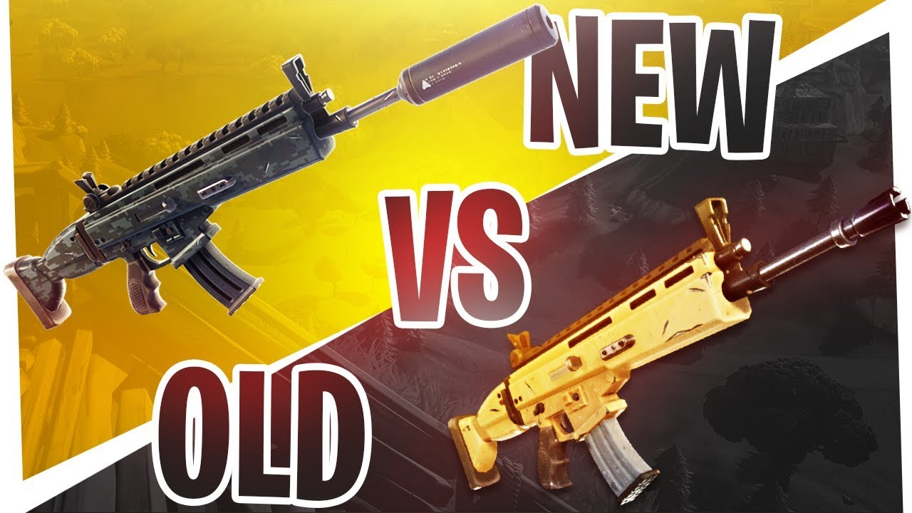The New Silenced Legendary Scar Vs Old Legendary Scar Which Is Better Fortnite Battle Royale