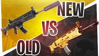 The NEW Silenced Legendary SCAR vs OLD Legendary SCAR - Which is better? - Fortnite Battle Royale