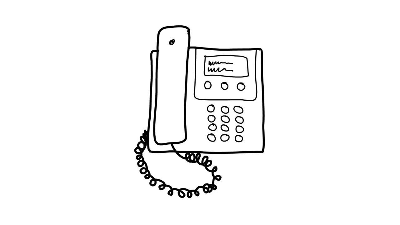 how to draw a house phone