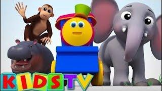 儿童童谣 -  童谣英语 字母动物视频|为孩子和孩子们的Abc歌曲|动物拼音歌曲火车 2019
