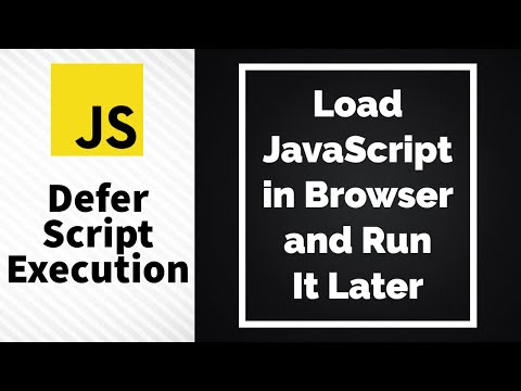 How To Load A JavaScript File In Browser And Run It Later