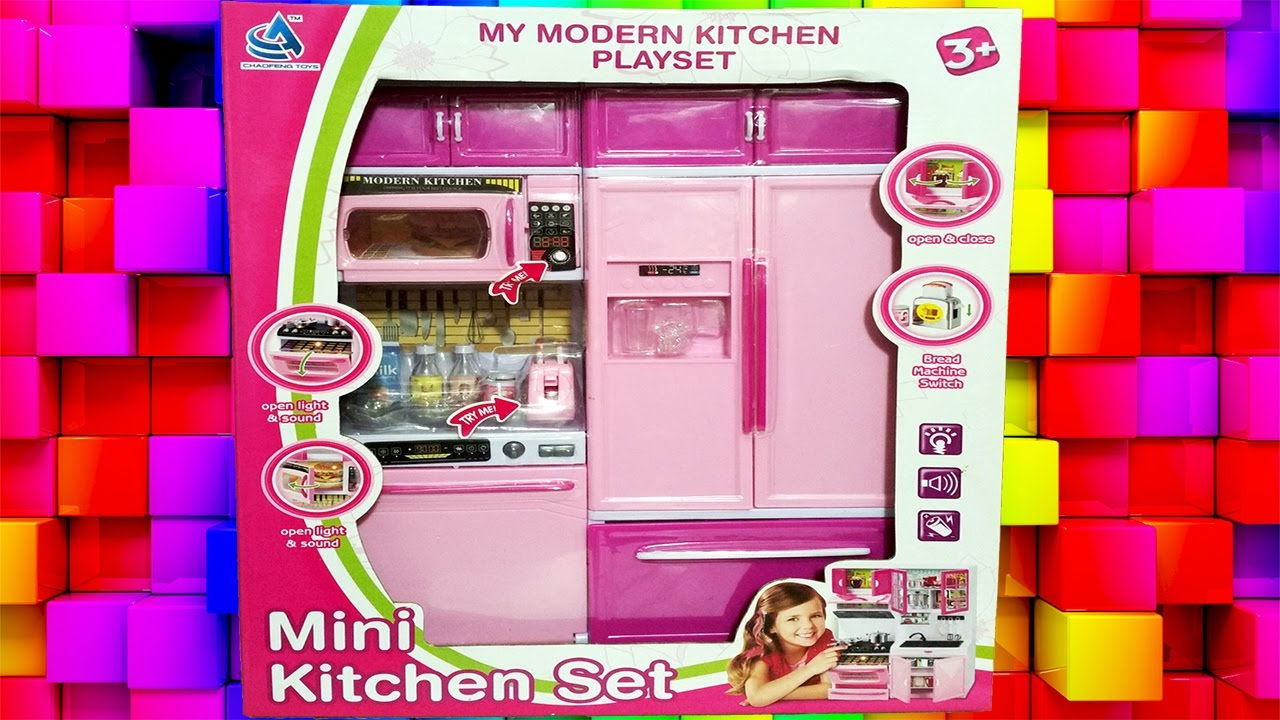 Mini kitchen set and barbie part 2