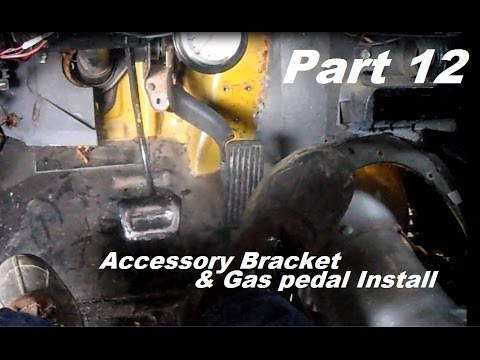 72 Chevy Ls Swap Part 12 Accessory Bracket And Gas Pedal