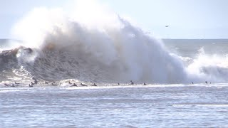 SURFING MASSIVE WINTER SWELL