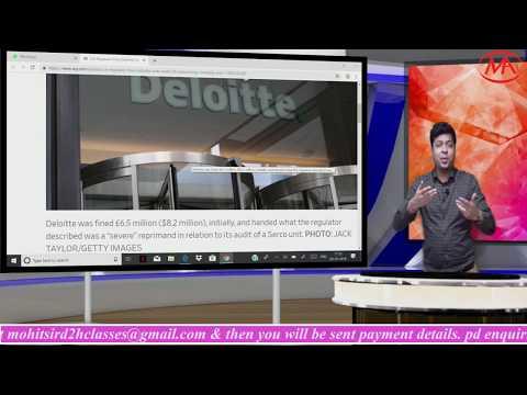 Breaking News-Deloitte LLP found Guilty.Watch till Last.