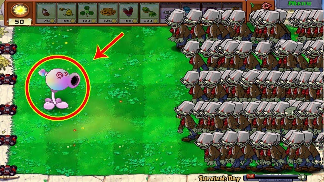 Plants vs Zombies Hak - Hypno-shroom vs 9999 Conehead Zombie vs Dr. Zomboss