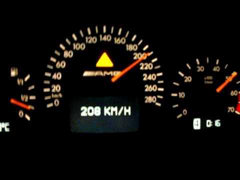 0-280 Km/h ca 35 sec in my Mercedes E55 AMG Supercharged 1890 KG 500+ HP