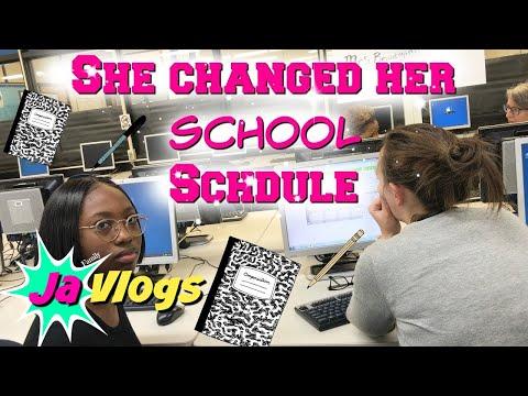 YANNA CHANGED HER SCHOOL SCHEDULE