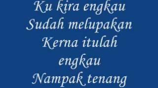 Lyrics of Lamunan Terhenti By Aris Ariwatan