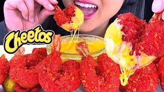 ASMR CHEESY Hot Cheetos SHRIMP (Crunchy Eating Sounds) NO TALKING  ASMR Phan