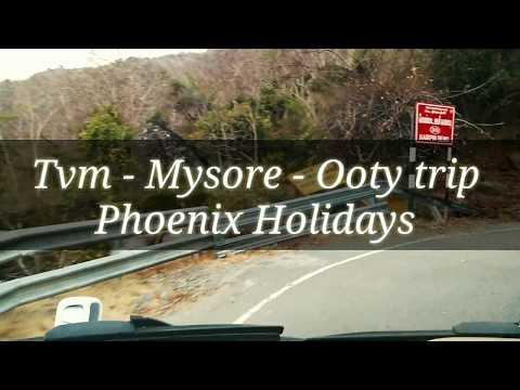 Trip to Trivandrum - Nilambur - Mysore - Ooty 17 seat tempo traveller AC @Trivandrum Call us Phoenix