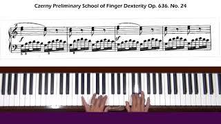Czerny Die Vorschule der Fingerfertigkeit Op. 636, No. 24 Piano Tutorial