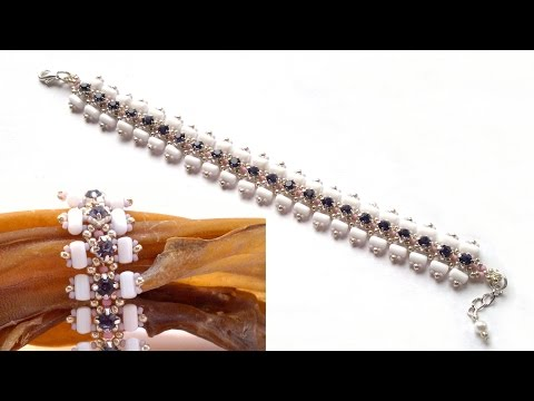 Beading4perfectionists : Avant garde stylish bracelet with Swarovsni's and Rulla's