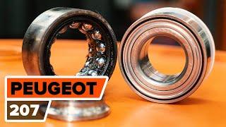 Montáž zadné a predné Lozisko kolesa PEUGEOT 207: video príručky