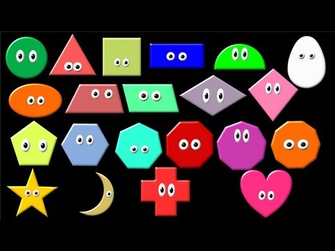 What Shape Is It? Learn Geometric Shapes - The Kids' Picture Show (Fun & Educational)