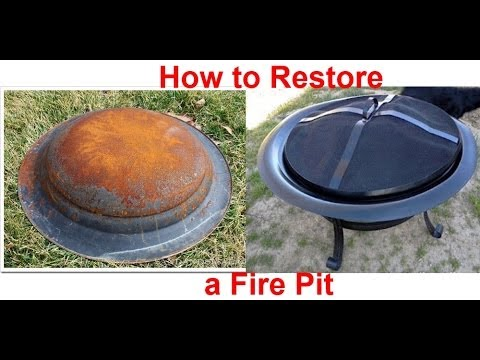 how to restore a rusty fire pit youtube. Black Bedroom Furniture Sets. Home Design Ideas