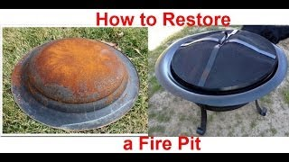 How To Restore A Rusty Fire Pit Youtube