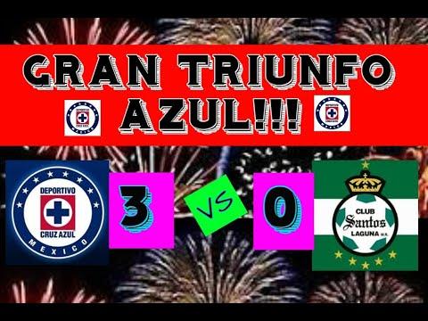 GRAN TRIUNFO AZUL!!! CRUZ AZUL 3 VS 0 SANTOS JORNADA-3 LIGA MX CLAUSURA 2020