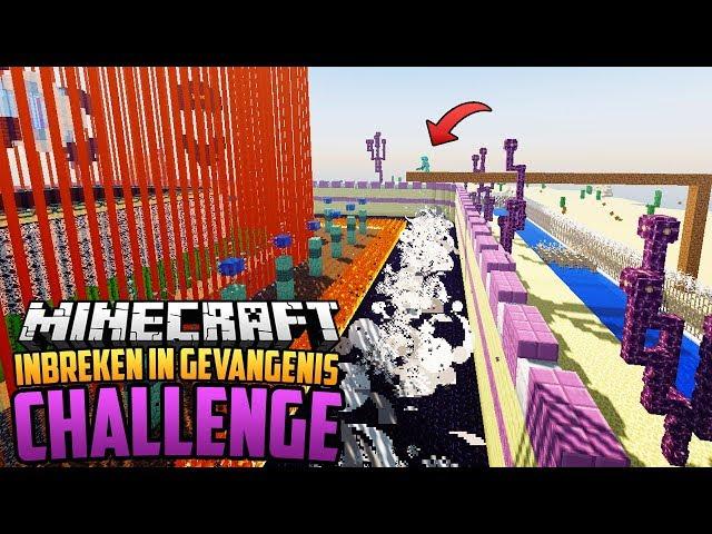 INBREKEN in DE MEEST BEVEILIGDE REDSTONE GEVANGENIS - Minecraft Challenge