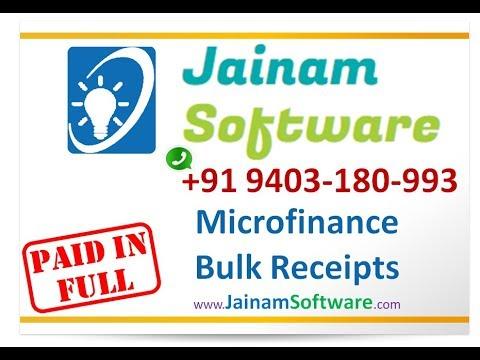 Microfinance | Bulk Receipts For Multiple Loans | Jainam Software