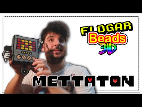 METTATON (UNDERTALE) - HAMA BEADS 3D #1 - DIY - FLOGAR BEADS TUTORIALES