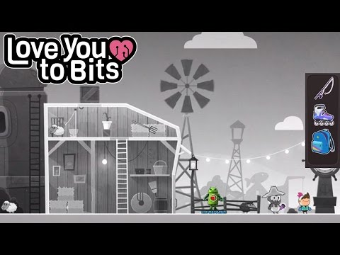 Love You to Bits Level 26 (An Adventure in Black and White) Walkthrough