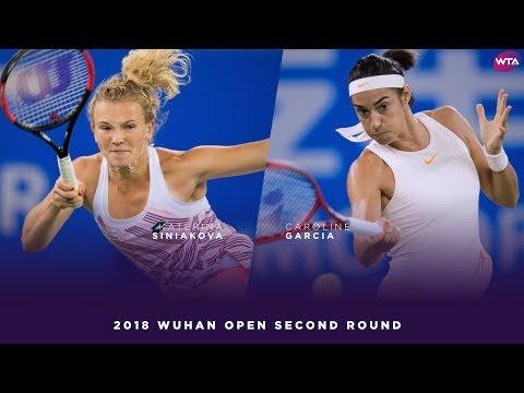 Katerina Siniakova vs. Caroline Garcia | 2018 Wuhan Open Second Round | WTA Highlights 武汉网球公开赛