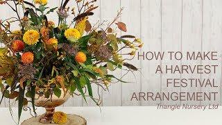 How To Make A Harvest Festival Arrangement Live Wholesale Flowers Direct