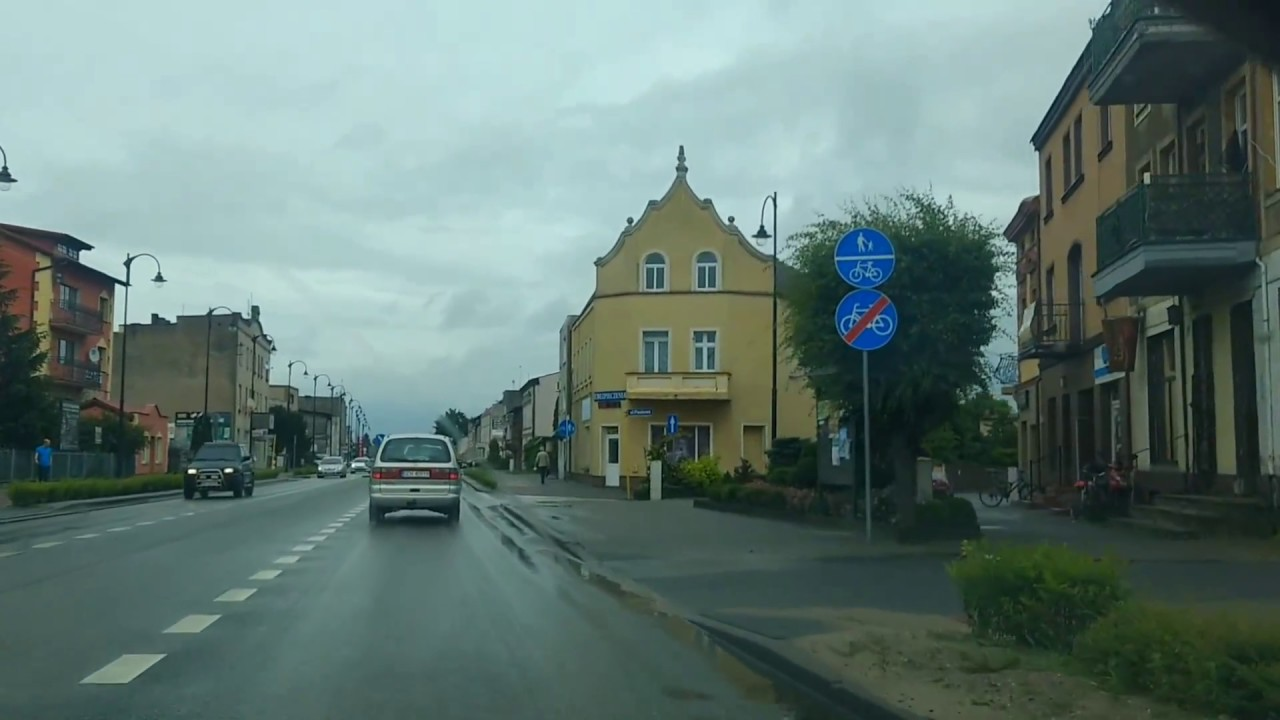 Driving through Poland - Czersk (town) and neighb. villages (Pomeranian region)