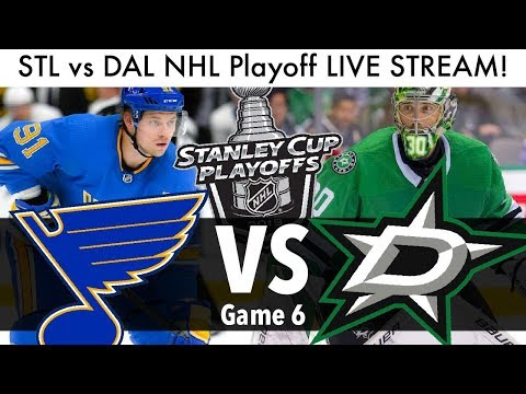 Blues Vs Stars NHL Playoff Game 6 LIVE STREAM! (Round 2 Stanley Cup Series STL/DAL Reaction)