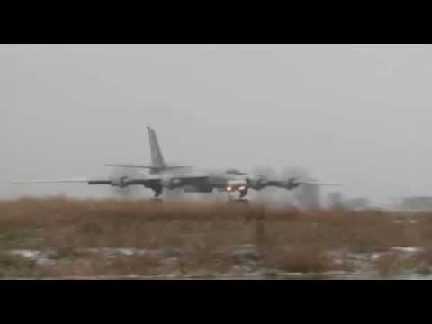 Нанесение удара крылатыми ракетами стратегическим ракетоносцем Ту-95МС по объектам ИГИЛ