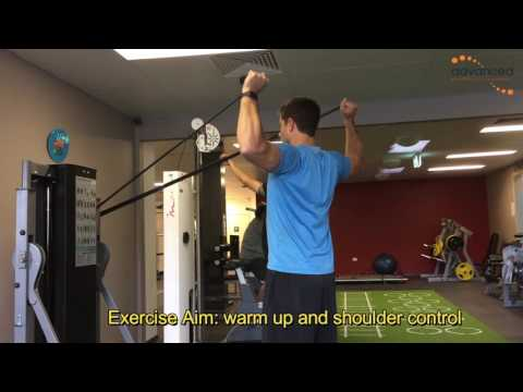 SHOULDER EXERCISES Standing Theraband Row External Rotation Shoulder Press